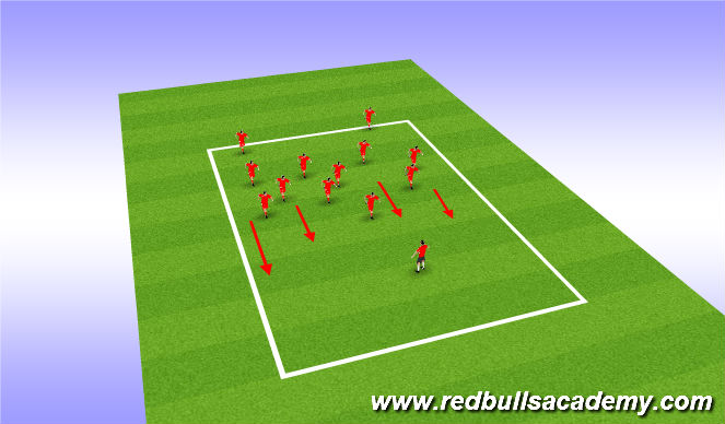 Football/Soccer Session Plan Drill (Colour): Pirate Run