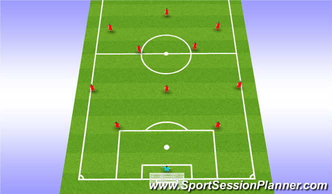 Football/Soccer Session Plan Drill (Colour): Teamtalk - In Possession