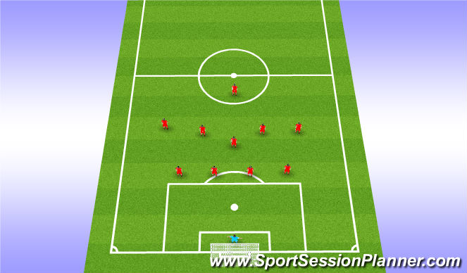 Football/Soccer Session Plan Drill (Colour): Teamtalk - Out of Possession