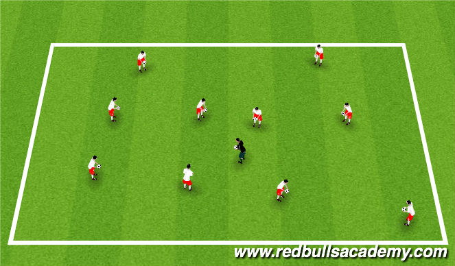 Football/Soccer Session Plan Drill (Colour): Warm-Up/Ice Breaker
