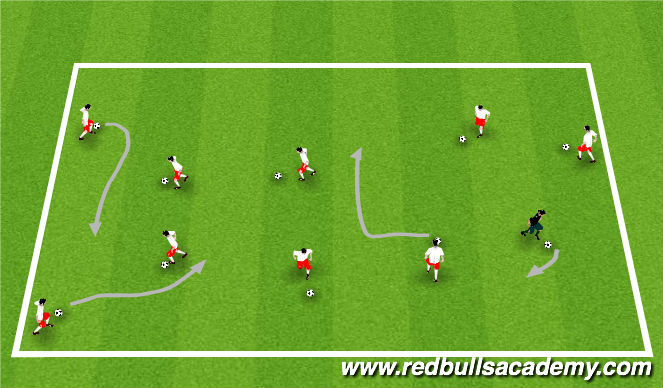 Football/Soccer Session Plan Drill (Colour): Meet the Animals
