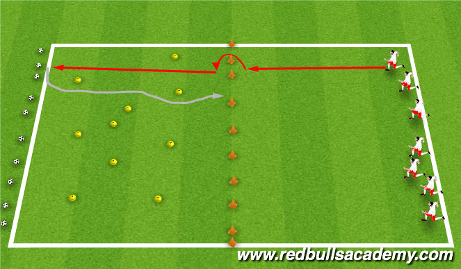 Football/Soccer Session Plan Drill (Colour): Free the Monkeys