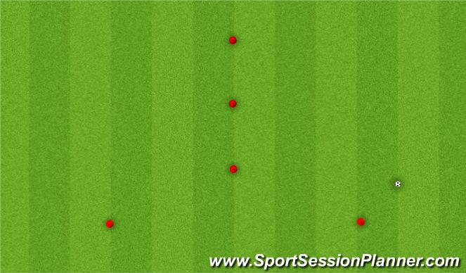 Football/Soccer Session Plan Drill (Colour): 5 Cone Traingle - Advanced 1