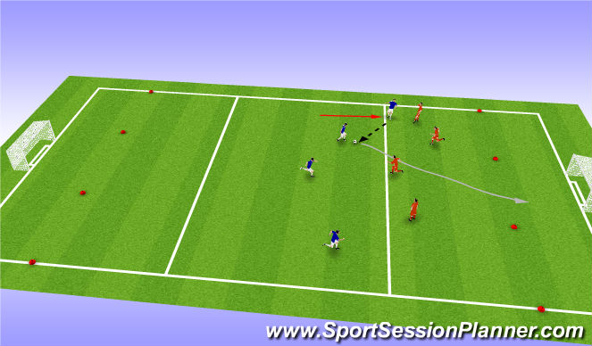 Football/Soccer Session Plan Drill (Colour): Rugby