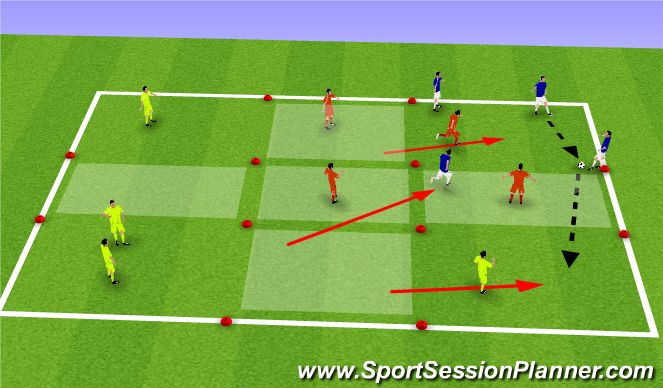 Football/Soccer Session Plan Drill (Colour): Charlestown Squares