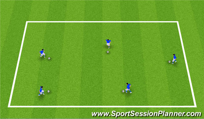 Football/Soccer Session Plan Drill (Colour): Part B