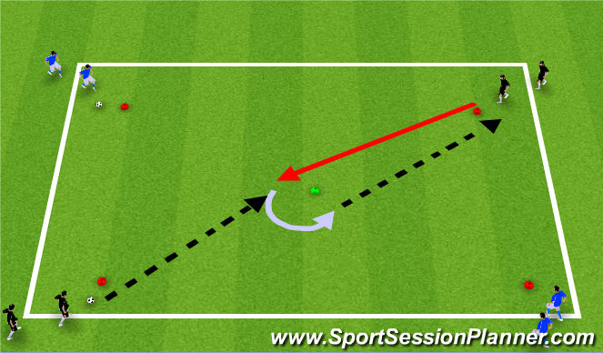 Football/Soccer Session Plan Drill (Colour): Part C