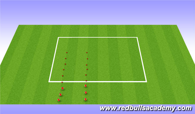 Football/Soccer Session Plan Drill (Colour): Ladders