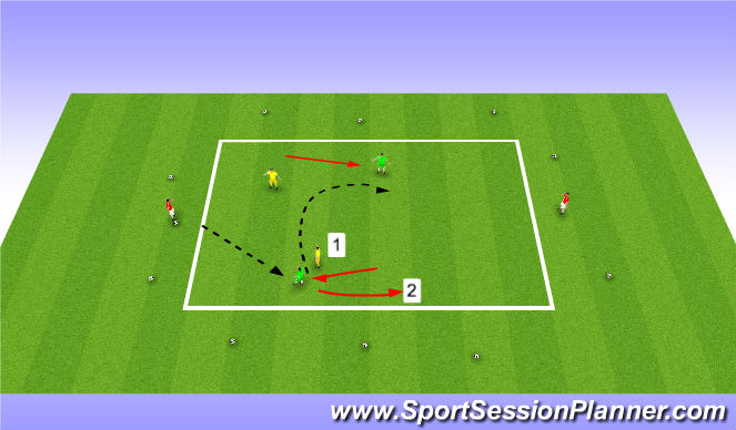 Football/Soccer Session Plan Drill (Colour): 2v2+2 Rondo