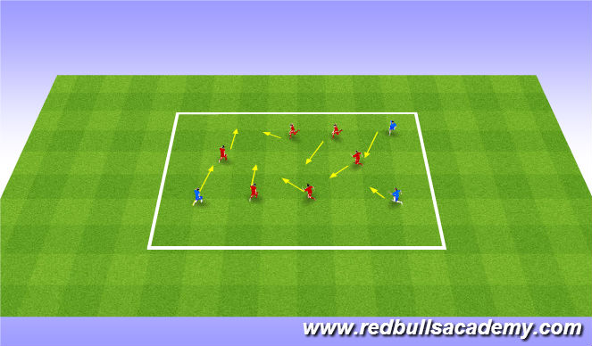Football/Soccer Session Plan Drill (Colour): Warm up - Tag