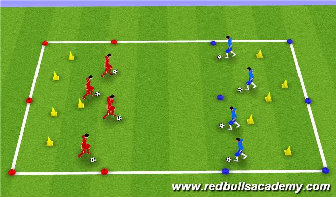 Football/Soccer Session Plan Drill (Colour): World Explorer
