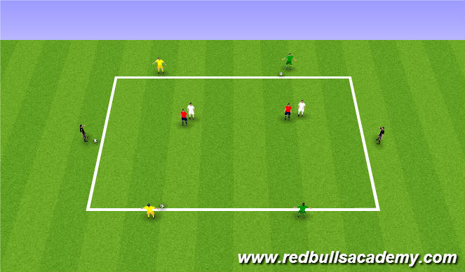 Football/Soccer Session Plan Drill (Colour): Tech/Tact 15mins