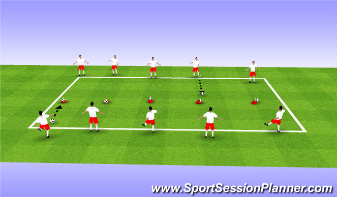Football/Soccer Session Plan Drill (Colour): Trophy Case