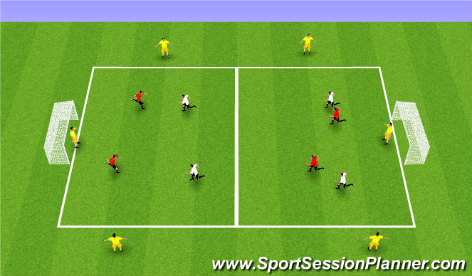 Football/Soccer Session Plan Drill (Colour): Whole - SSG