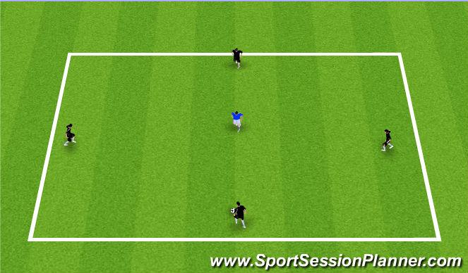 Football/Soccer Session Plan Drill (Colour): 4v1 or 3v1 Keep Away