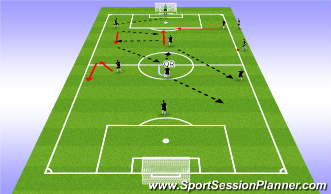 Football/Soccer Session Plan Drill (Colour): PP#2