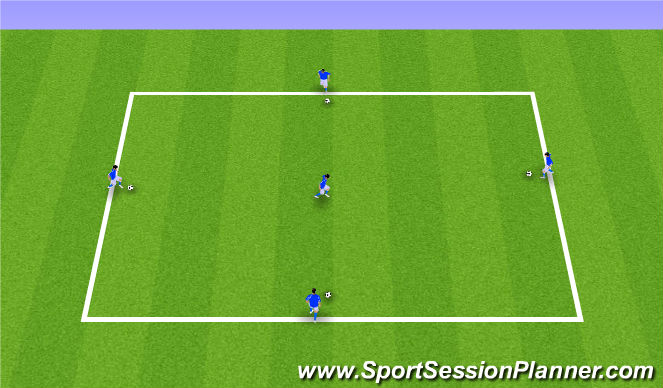 Football/Soccer Session Plan Drill (Colour): Deft First Touch