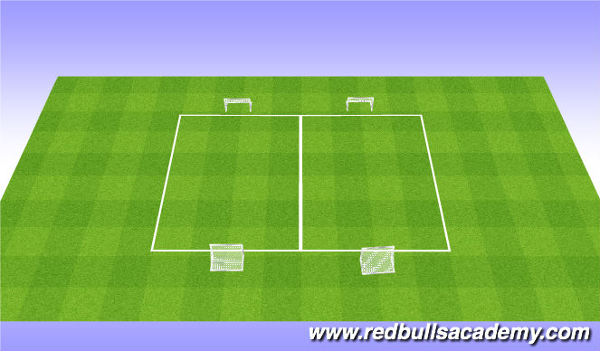 Football/Soccer Session Plan Drill (Colour): 1v1 tourn