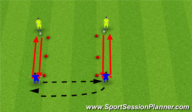 Football/Soccer Session Plan Drill (Colour): First Touch Square