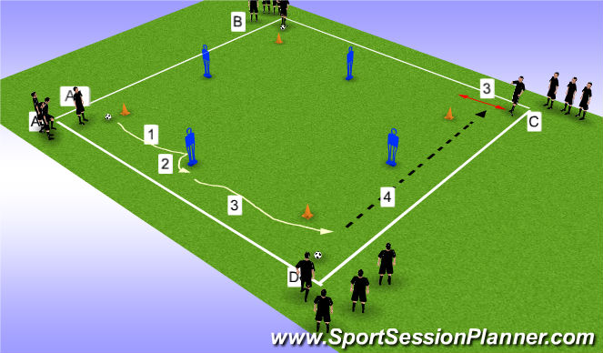Football/Soccer Session Plan Drill (Colour): S/C/Box Prog 1