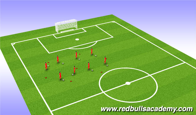 Football/Soccer Session Plan Drill (Colour): Activity 1- up-down moves
