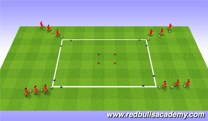 Football/Soccer Session Plan Drill (Colour): Activity 2- square turns