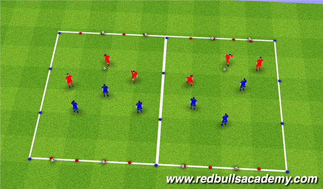 Football/Soccer Session Plan Drill (Colour): Conditioned game- Treasure hunt