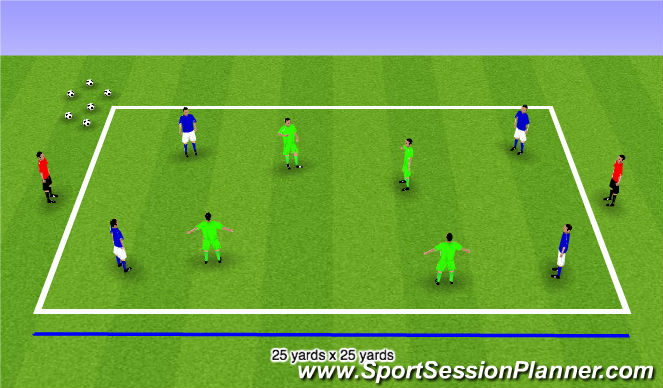 Football/Soccer Session Plan Drill (Colour): Step 3 Possession Games