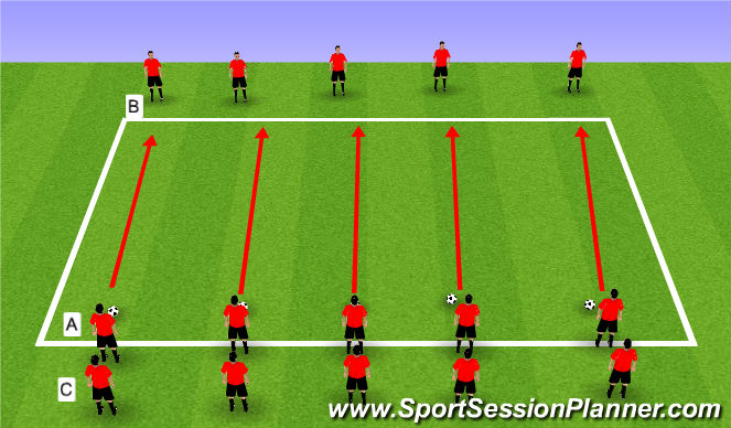 Football/Soccer Session Plan Drill (Colour): Step 4 321