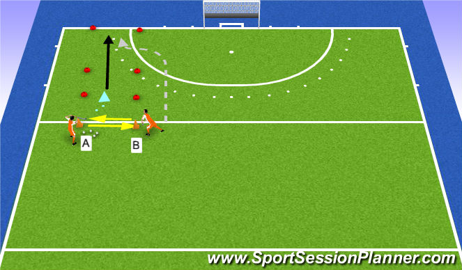 Hockey Session Plan Drill (Colour): onderscheppen