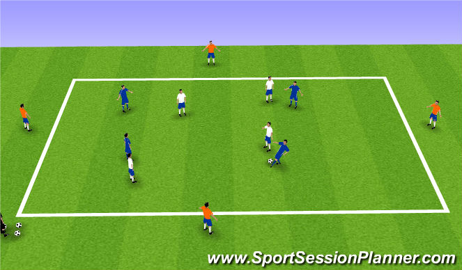 Football/Soccer Session Plan Drill (Colour): Keeping Possession or Starting Over
