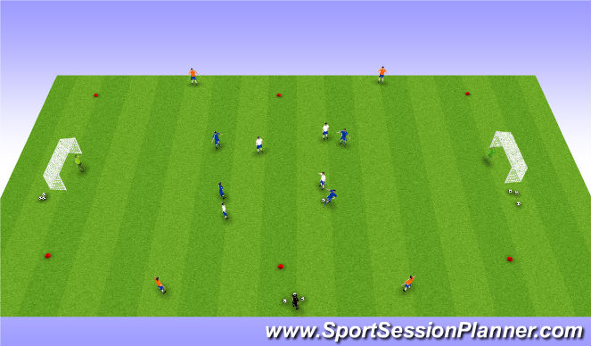 Football/Soccer Session Plan Drill (Colour): Maintaining Possession in Attack