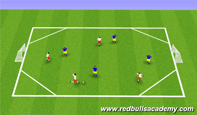 Football/Soccer Session Plan Drill (Colour): Diamond Field