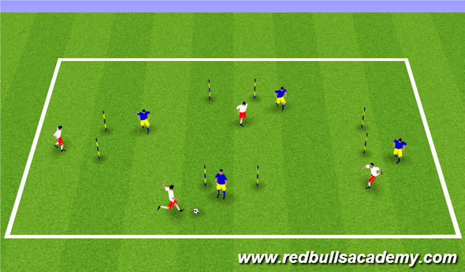 Football/Soccer Session Plan Drill (Colour): Four Gates
