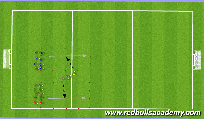 Football/Soccer Session Plan Drill (Colour): Game: Mario and Luigi's Gauntlet