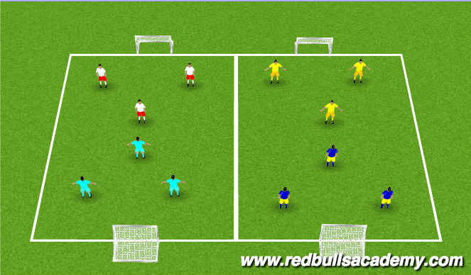 Football/Soccer Session Plan Drill (Colour): Tournament - 3v3