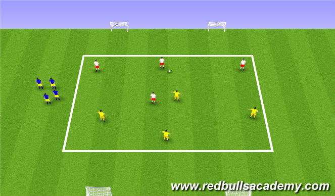 Football/Soccer Session Plan Drill (Colour): Small sided conditioned game