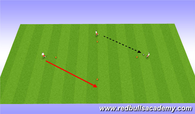 Football/Soccer Session Plan Drill (Colour): diamond passing