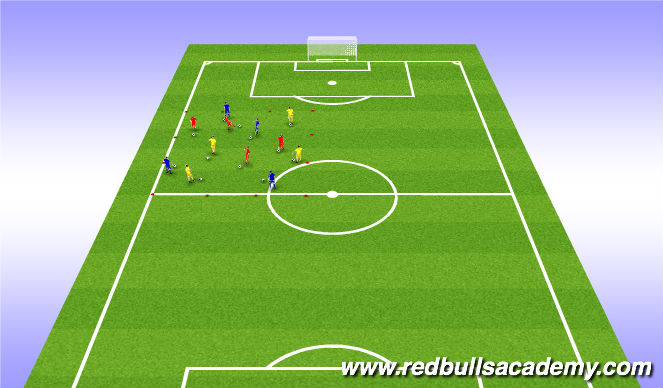 Football/Soccer Session Plan Drill (Colour): Warm up: Juggling