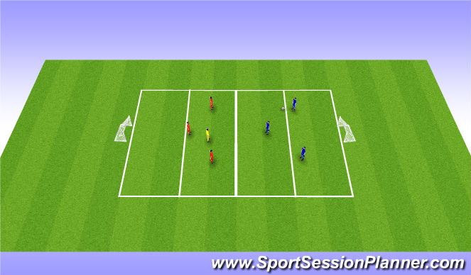 Football/Soccer Session Plan Drill (Colour): SSG Outnumbered