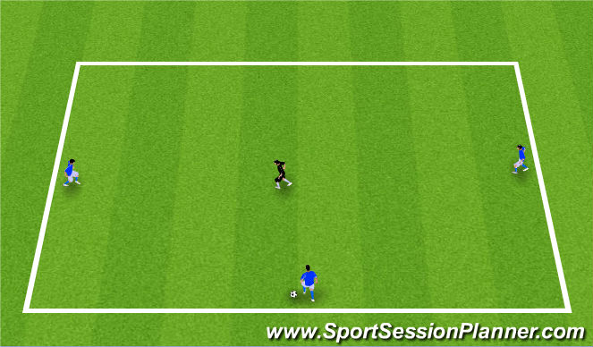 Football/Soccer Session Plan Drill (Colour): 3v1 Warm-up