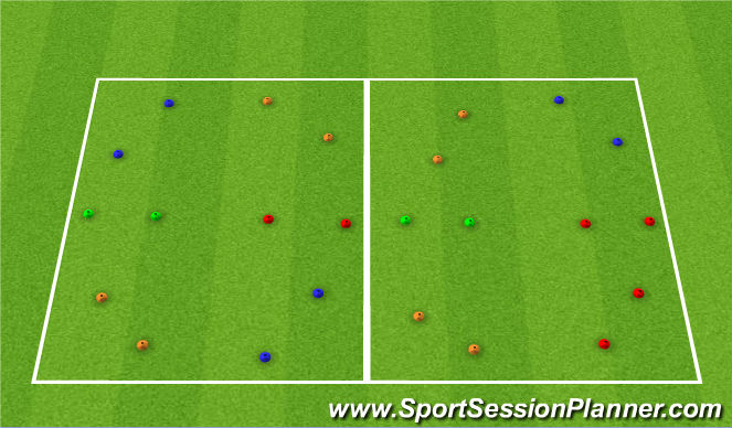 Football/Soccer Session Plan Drill (Colour): Pass Thru Gates
