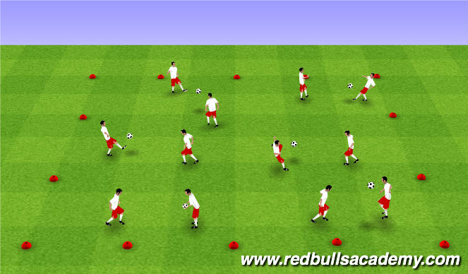 Football/Soccer Session Plan Drill (Colour): Juggling Warm-Up