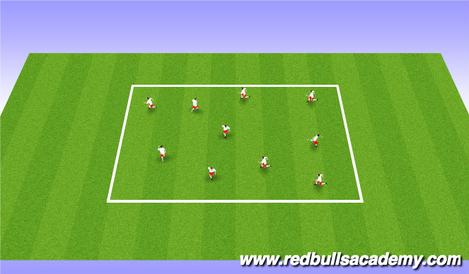 Football/Soccer Session Plan Drill (Colour): Practice 2 - Knockout