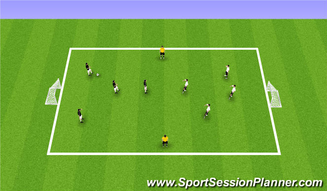 Football/Soccer Session Plan Drill (Colour): Skill Application