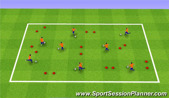 Football/Soccer Session Plan Drill (Colour): Coerver Ball Work
