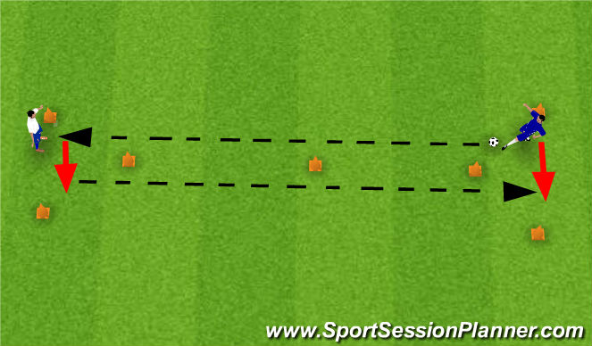Football/Soccer Session Plan Drill (Colour): Barca Triangles