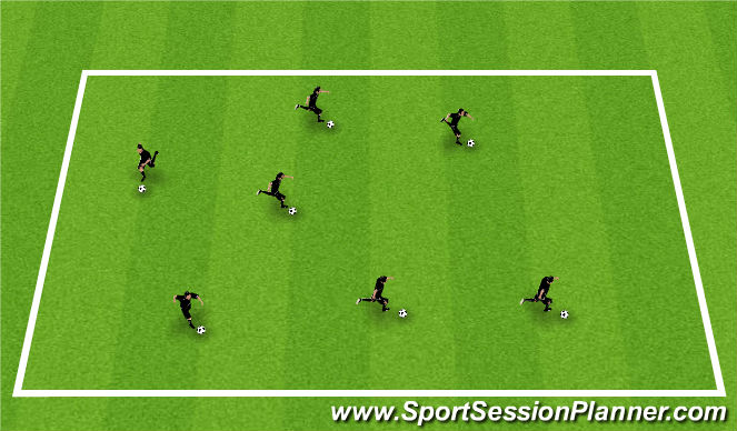 Football/Soccer Session Plan Drill (Colour): Bodyball