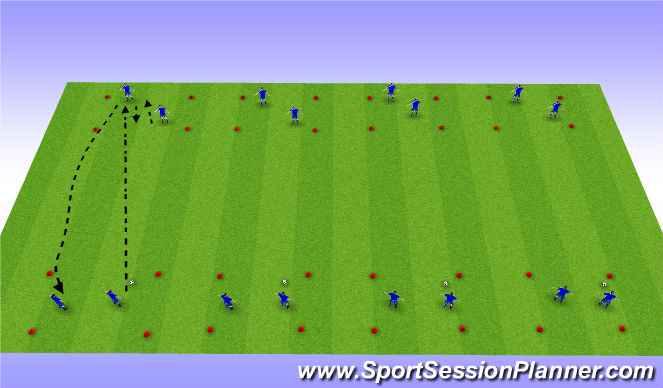 Football/Soccer Session Plan Drill (Colour): Attack 1