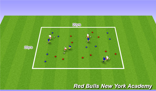 Football/Soccer Session Plan Drill (Colour): Main activity/Semiopposed